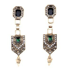 Two Tones Vintage Gold Earrings